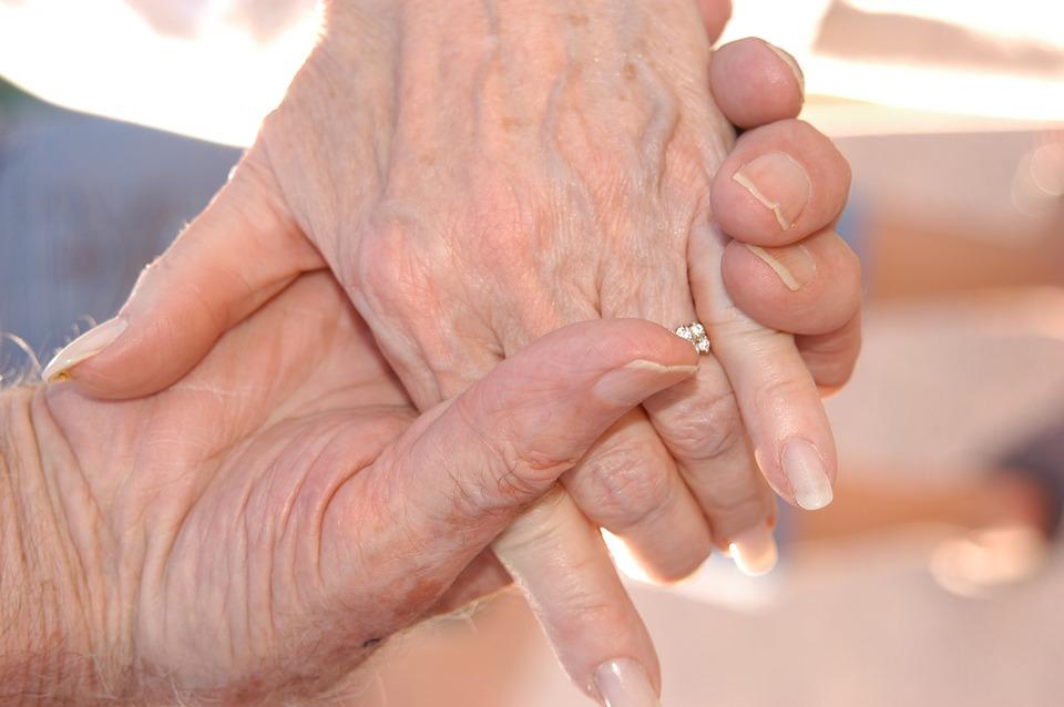 Love Senior Grandparents Hands Family Grandmother
